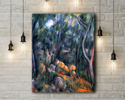 Paul Cezanne: Forest with the Rock Caves Above the Chateau Noir. Fine Art Canvas.